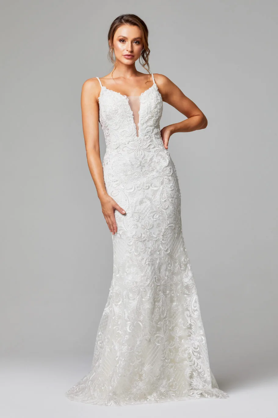 Shiloh Wedding Dress by Tania Olsen - Vintage White