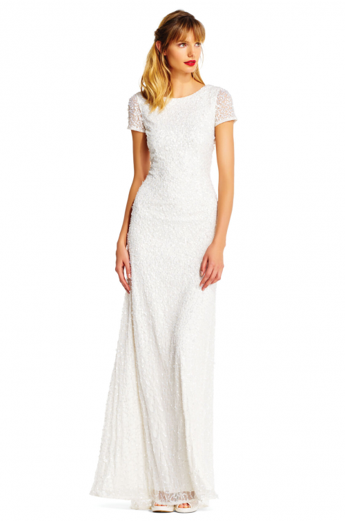 Pearl Reception Dress by Adrianna Papell - Ivory